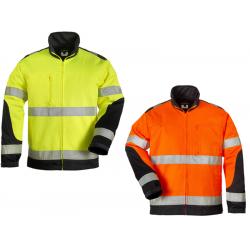 PATROL  veste de travail chaude polycoton avec bandes rétro réfléchissantes 3M haute visibilité