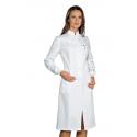 CLEA Blouse médicale femme poignets tricots et à pressions col mao