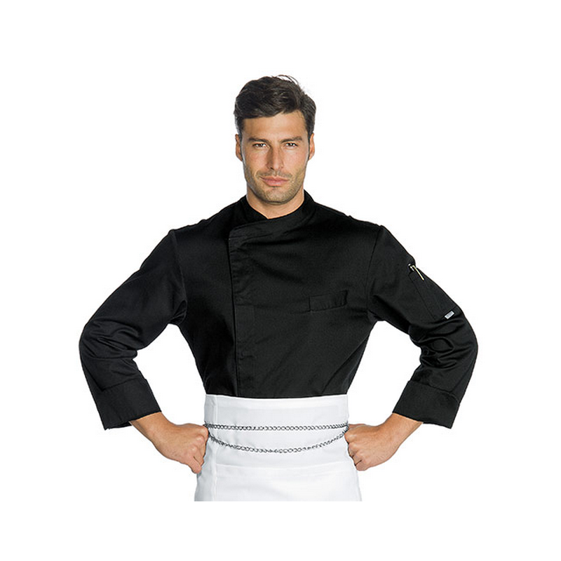 SUZUKA Veste de cuisinier polyester manches longues