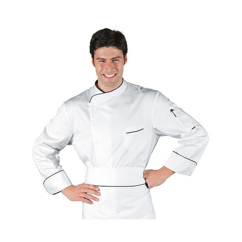 Veste de cuisinier manches longues coton HAMILTON