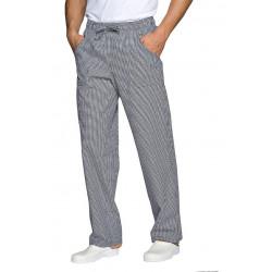 Pantalon de cuisine PAUL pied de poule noir