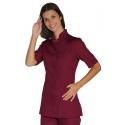 Tunique médicale femme manches courtes PORTOFINO Bordeaux