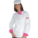 Veste de cuisine femme coton SNAPS