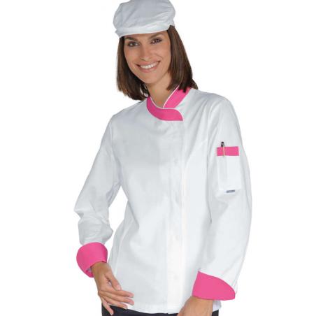 Veste de cuisine femme coton manches longues SNAPS