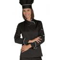 Veste de cuisine femme noire SNAPS