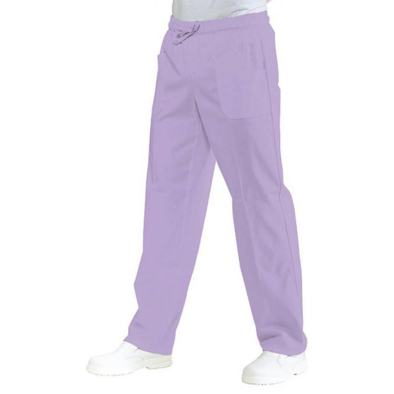 Pantalon médical mixte taille élastique MATHY DESTOCKE Lilas