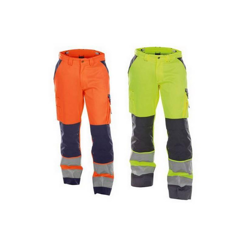 Pantalon de travail poches genoux BUFFALO haute visibilité