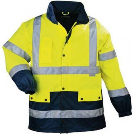 BREATHANE AIRPORT veste de travail chaude polyester jaune/marine haute visibilité
