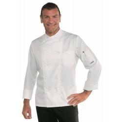 Veste de cuisine homme PANAMA SLIM COTON SATIN