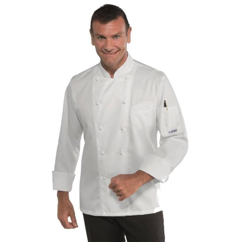 Veste de cuisine homme ALABAMA SLIM COTON SATIN