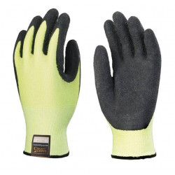 Lots de 10 paires de gants TAEKEI 5 latex noir, anti vibration, hi-viz