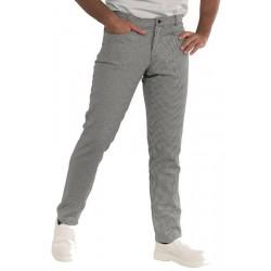 YALE SLIM Pantalon de cuisine homme pied de poule