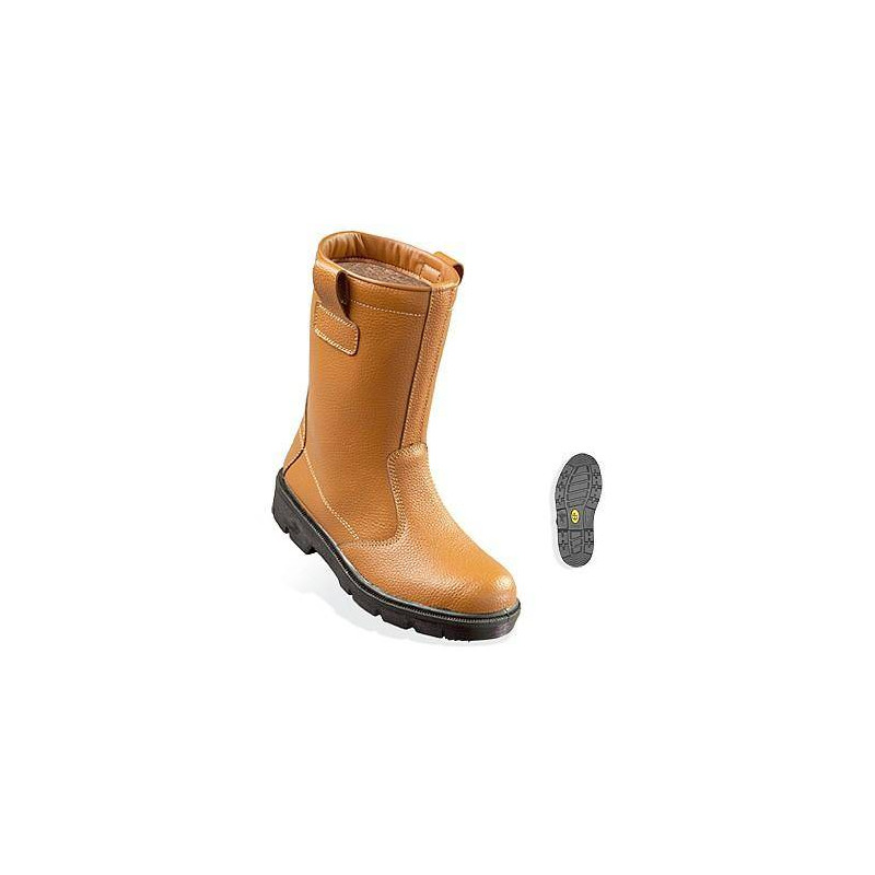 PYRITE bottes de sécurité non fourrées cuir de buffle S3