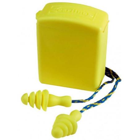Lot de 50 bouchons d'oreilles antibruit BUP avec cordes