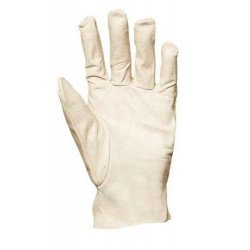 Lot 10 paires de gants maîtrise fleur de chèvre dos jersey balnc