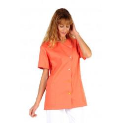 JUSTINE Tunique medicale femme manches courtes abricot