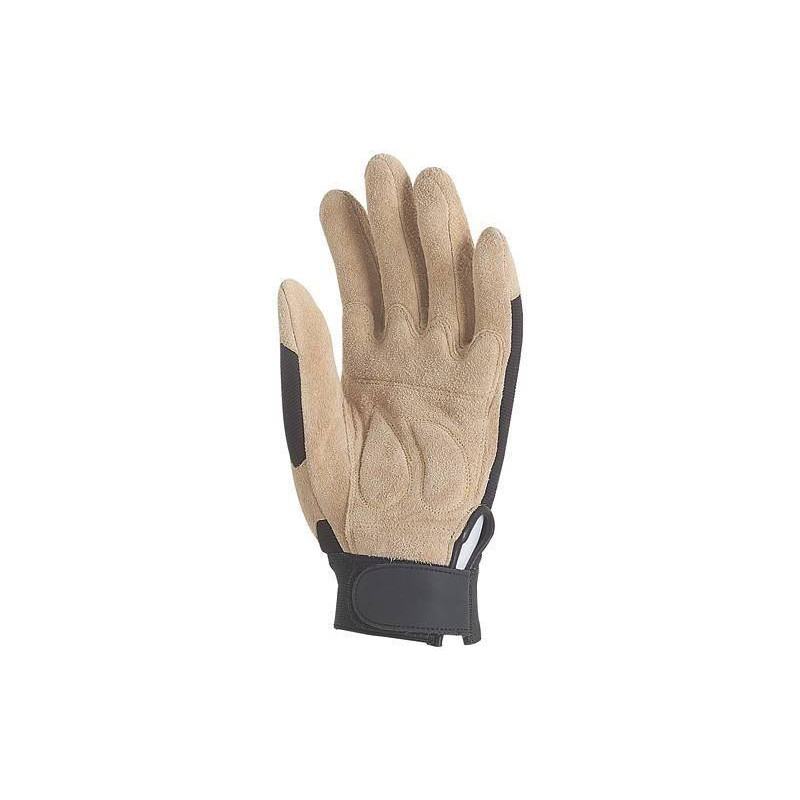 Lot 12 paires de gants fleur de porc ret., paume renf., poignet serrrage autogrip.