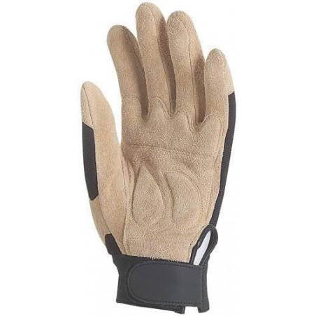 Lot 12 paires de gants fleur de porc, paume renforcé, poignet serrrage autogrip. 908