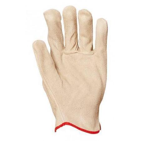 Lot 12 paires de gants maîtrise tout croûte vachette standard. 1109