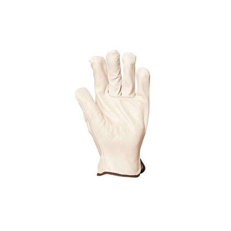 Lot 10 paires de gants maîtrise fleur vachette, dos croûte