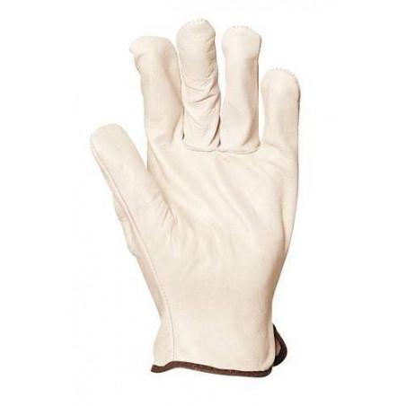 Lot 10 paires de gants maîtrise fleur vachette, dos croûte.  1218