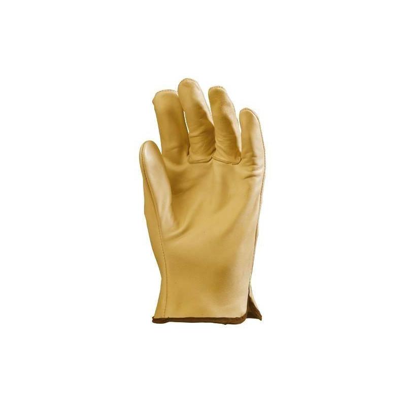 Lot 12 paires de gants maîtrise tout fleur vachette supérieure beige