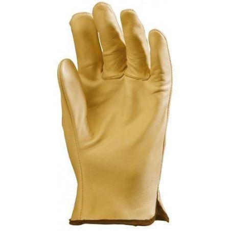 Lot 12 paires de gants maîtrise tout fleur vachette supérieure beige. 2208
