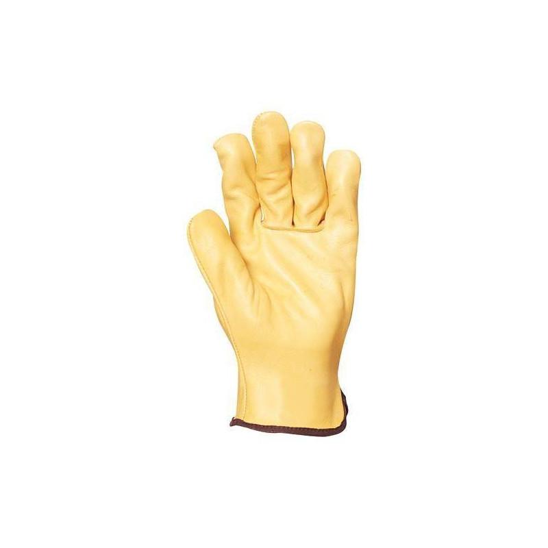 Lot 10 paires de gants maîtrise tout fleur vachette standard jaune