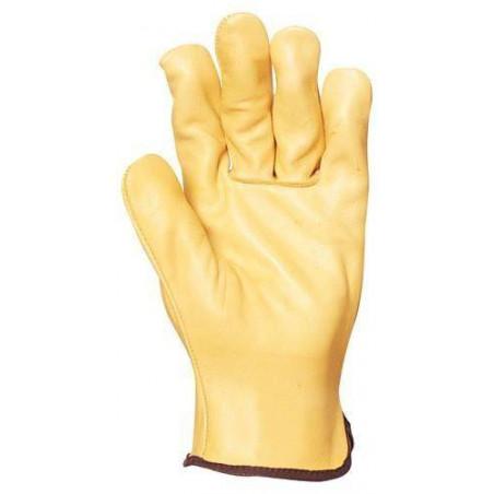 Lot 10 paires de gants maîtrise tout fleur vachette standard jaune. 2228