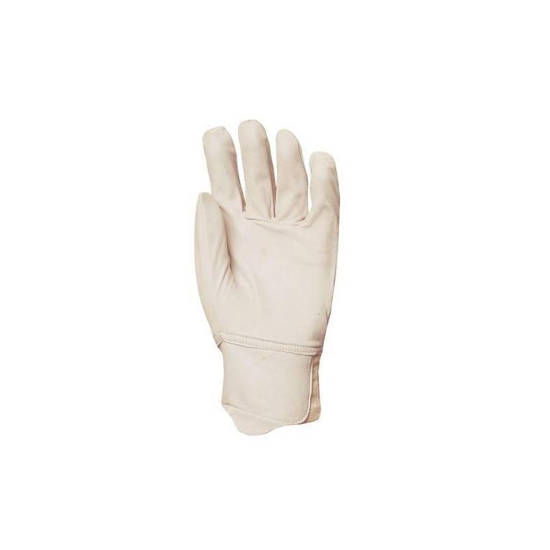 Lot 10 paires de gants maîtrise tout fleur vachette, poignet élastique, protège artère