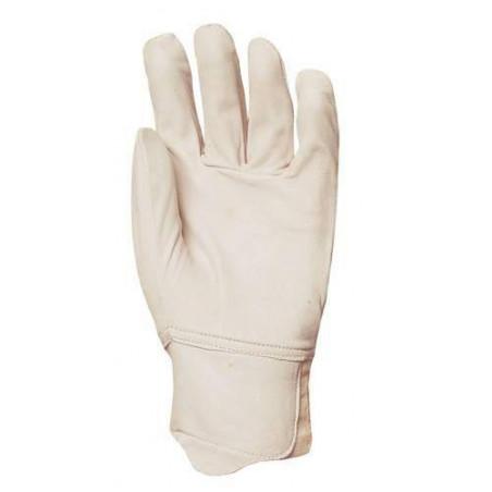 Lot 10 paires de gants maîtrise tout fleur vachette, poignet élastique, protège artère.  2258