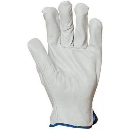 Lot 10 paires de gants maîtrise tout fleur agneau.  2308