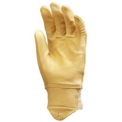 Lot 10 paires de gants tout fleur vachette supérieure hydrofuge, protège artère
