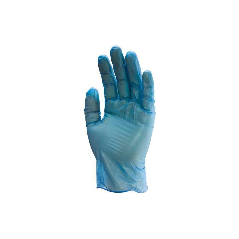 Lot 100 gants vinyle belu 5700 poudré usage court AQL 1.5