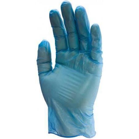 Gants vinyle bleu 5750 poudré usage court boite de 100 gants