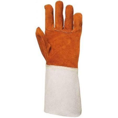 Lot 10 paires de gants tout croûte vachette, doublé molleton, m. 15 cm