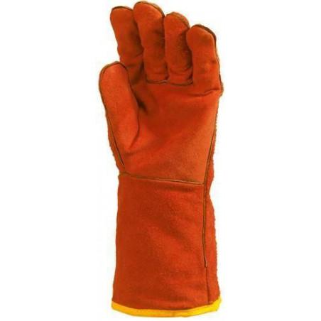 Lot 12 paires de gants de soudeur doublés molleton