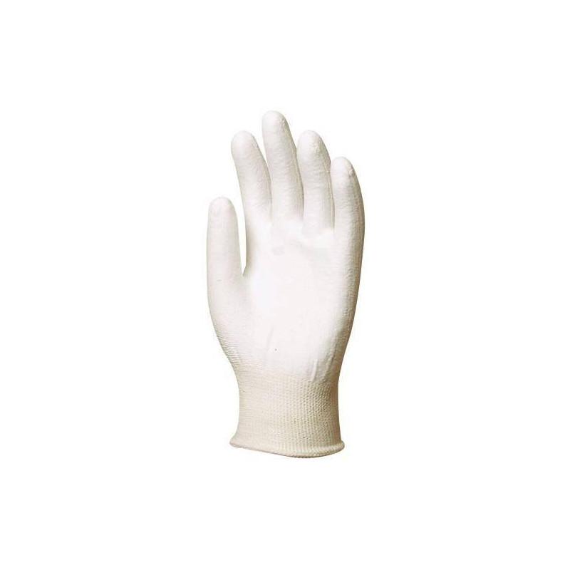 Lot 12 paires de gants HPPE, paume enduit polyuréthane blanc, anticoupure