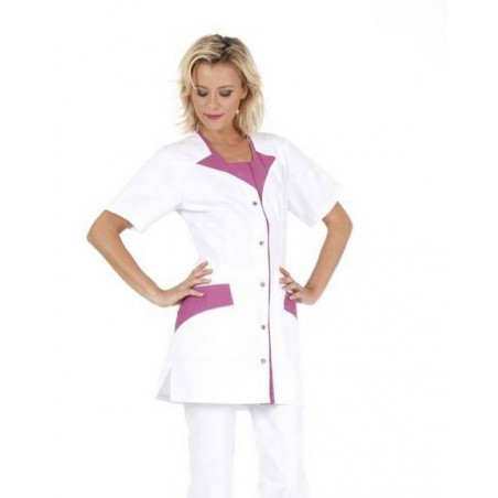 ROMMY Tunique médicale  femme manches courtes bi colores