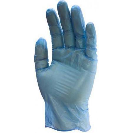 Boite de 100 gants vinyle bleu NON poudrés en livraison express