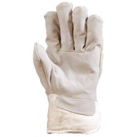 Lot 120 paires de Gants docker croûte vachette supérieure blanc 150
