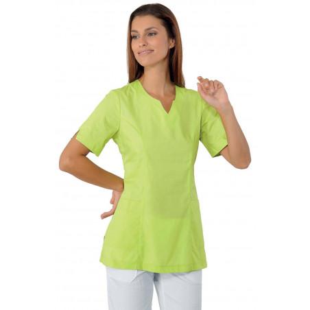 Tunique de travail femme colorée à manches courtes femme TIFFANY