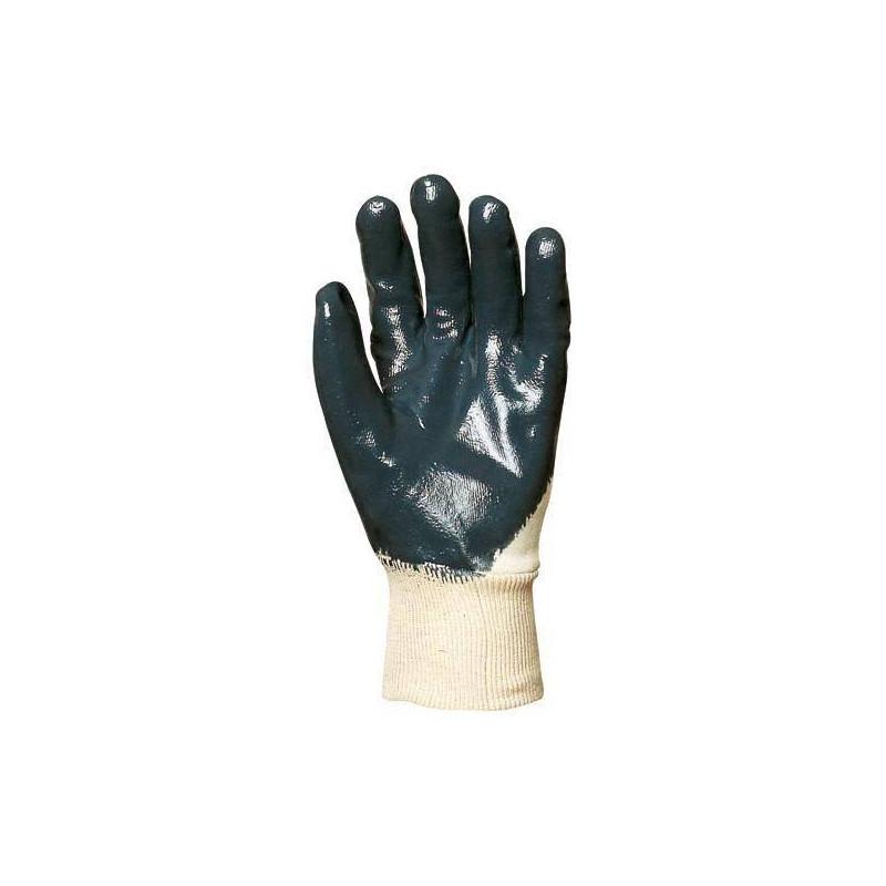 Lot 10 paires de gant nitrile bleu dos aéré, économique
