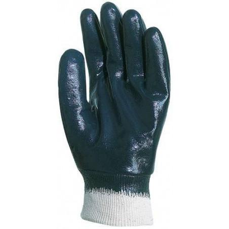 Paire de gants nitrile bleu dos enduit, économique
