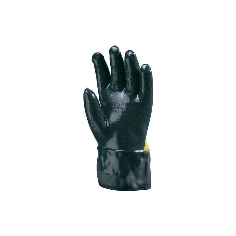 Lot 10 paires de gants paume Kevlar, dble enduct nitrile bleu