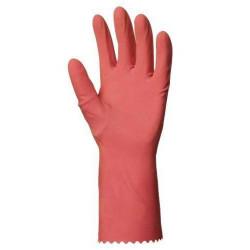 Lot 12 paires de gants latex sur jersey coton bleu, main adhérisée