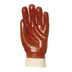 Lot 10 paires de gants PVC rouge dos aéré, Actifresh