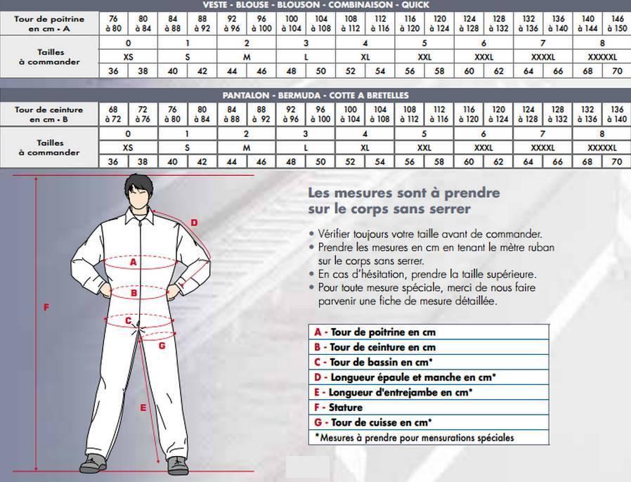 Pantalon de travail homme blanc pro 39 up v tements de travail - Vetement de travail grande taille homme ...